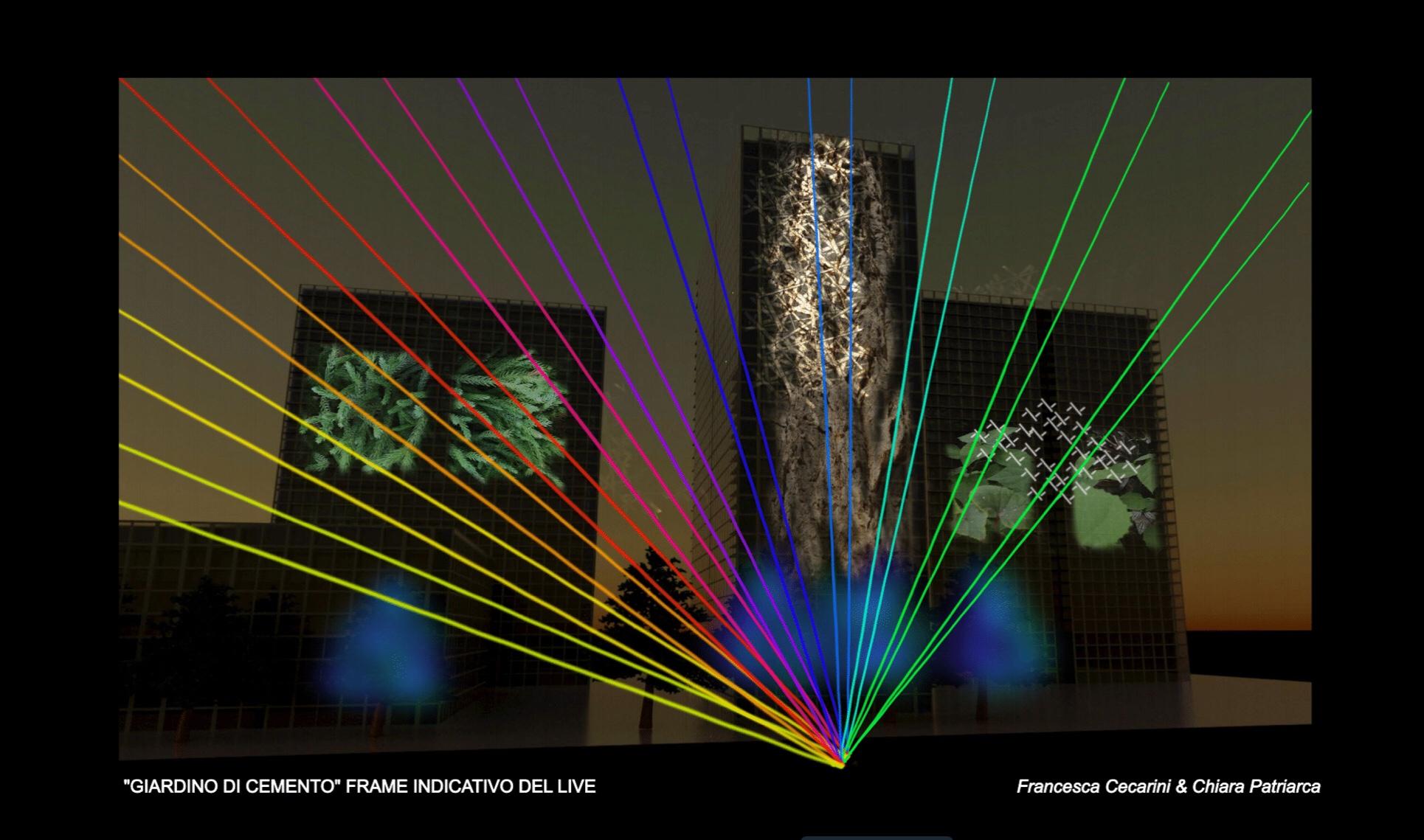 Giardini di Cemento RGB light experience 2020