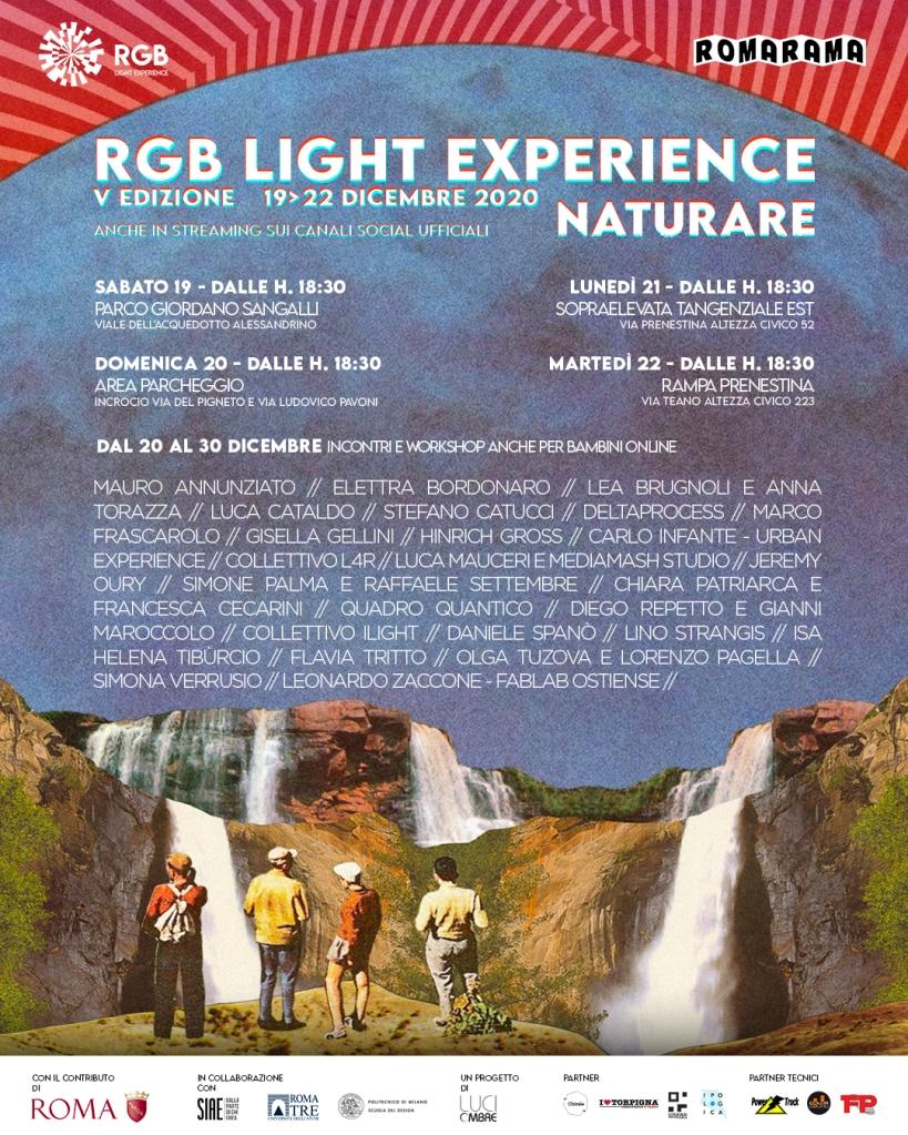 Locandina RGB Light Experience 2020