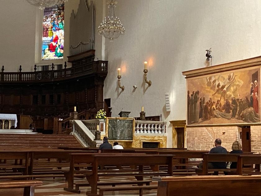 Interno Santa Maria degli Angeli in Porziuncola assisi