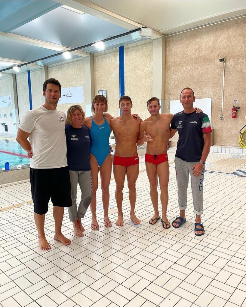 Team nuoto italiano foto di Federica Pellegrini